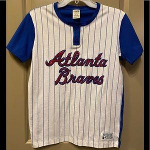 VS PINK Atlanta Braves baseball tee